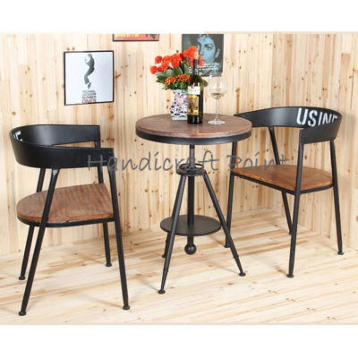 Cafe chair and Adjustable table set