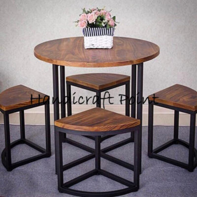 Round table and stool set