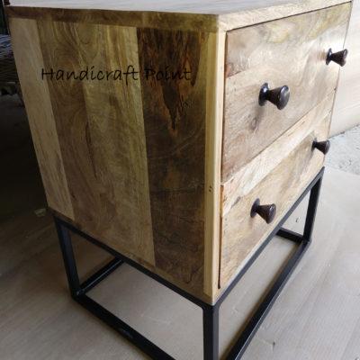 2 Drawer wooden bedside  Iron Size25Hx52x60 cm
