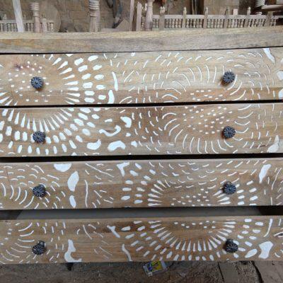 Wooden Carved Drawer set