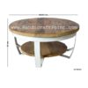 Industrial Coffee Table with Solid Mango Wood Top