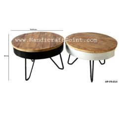 Industrial style hair pin coffee table
