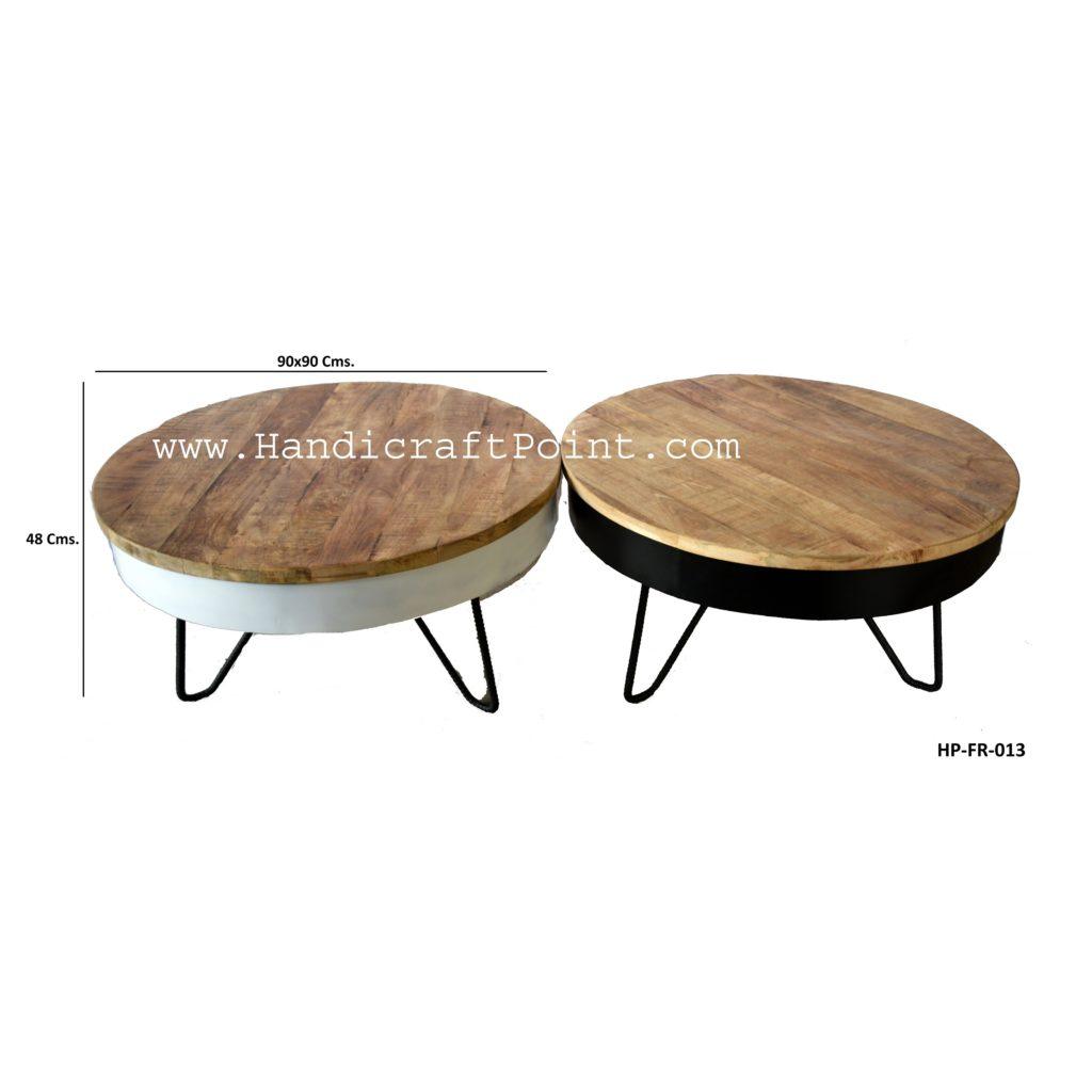 Iron Mango Wood Folding Coffee Table Handicraft Point