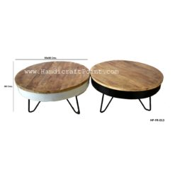 Iron Mango Wood Folding Coffee Table