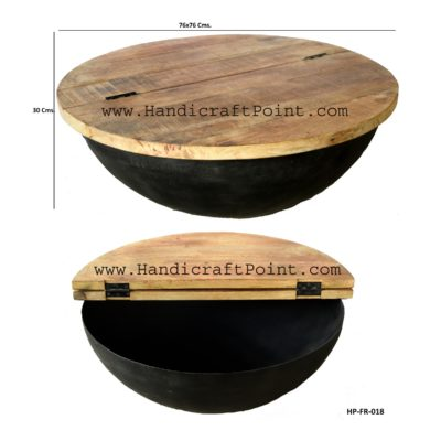 Iron Storage Coffee Table