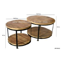 Vintage Industrial Coffee Table Round