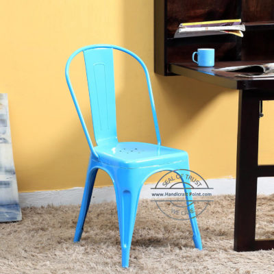 Industrial Cafe Tolix Chair sky blue