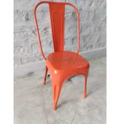 Industrial Restaurant Tolix Chair Orange