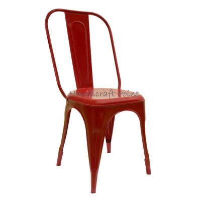 Industrial Restaurant Tolix Chair Red