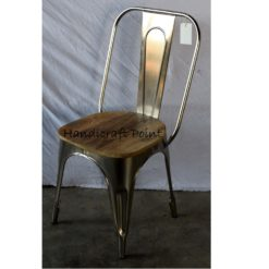 Iron Nickel Plated Cafe chair