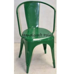 Metal Arm chair green