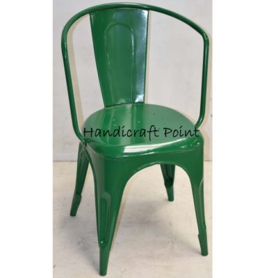 Metal Arm chair green