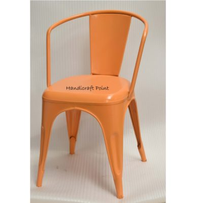 Metal Cafe chair orange