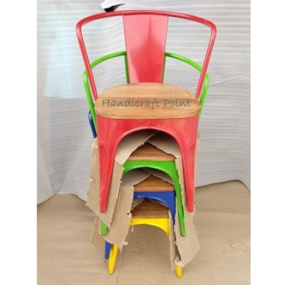 Stackable Cafe Chairs multicolor