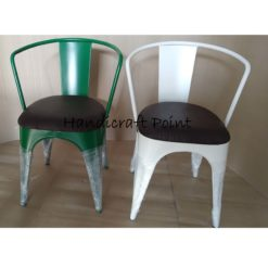 Cafe arm chair with cushion seat