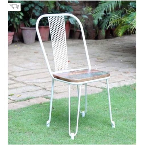 Tolix style outdoor cafe chair